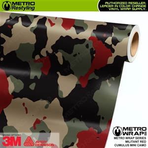 Mini Cumulus Militant Red Camouflage Vinyl Car Wrap Film