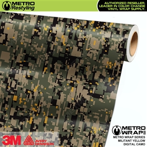 Digital Militant Yellow Camouflage Vinyl Car Wrap Film