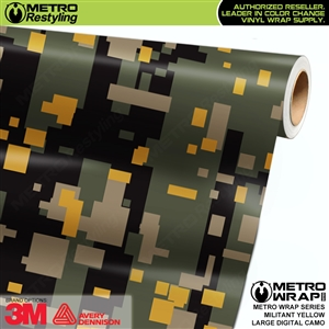 Large Digital Militant Yellow Camouflage Vehicle Vinyl Wrap Film