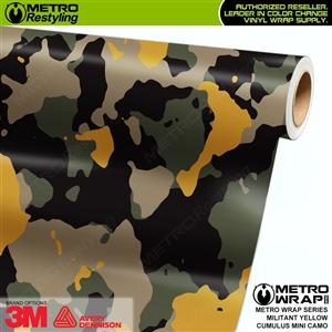 Mini Cumulus Militant Yellow Camouflage Vinyl Car Wrap Film