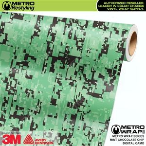 digital mint chocolate chip camouflage vinyl wrap