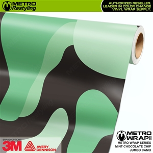 Jumbo Mint Chocolate Chip Camouflage Vinyl Car Wrap Film