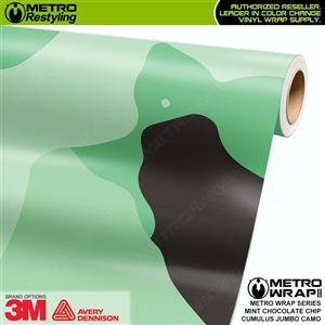 Jumbo Cumulus Mint Chocolate Chip Camouflage Vinyl Car Wrap Film