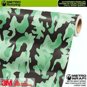Large Mint Chocolate Chip Camouflage Vinyl Vehicle Wrap Film