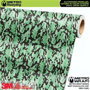 Mini Mint Chocolate Chip Camouflage wrap car vinyl film