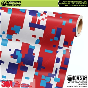 large digital m series camouflage vinyl wrap