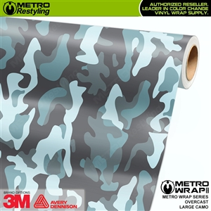 Large Overcast Camouflage Vinyl Vehicle Wrap Film