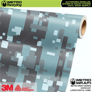 Large Digital Overcast Camouflage Vehicle Vinyl Wrap Film
