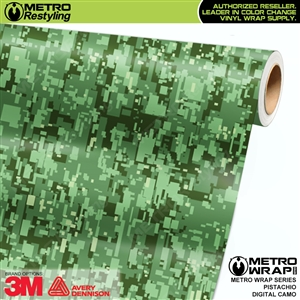 Digital Pistachio Camouflage Vinyl Car Wrap Film