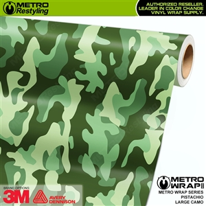 Large Pistachio Camouflage Vinyl Vehicle Wrap Film