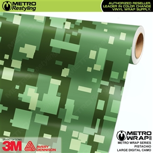 Large Digital Pistachio Camouflage Vehicle Vinyl Wrap Film