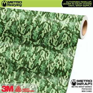 Mini Pistachio Camouflage wrap car vinyl film
