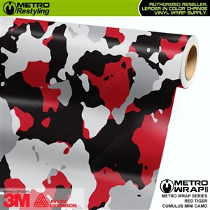 mini cumulus red tiger camouflage vinyl wrap