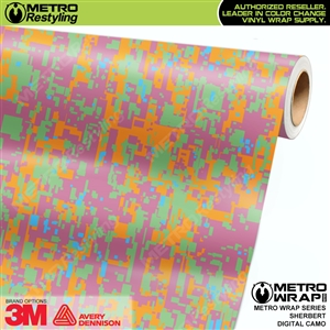Digital Sherbert Camouflage Vinyl Car Wrap Film