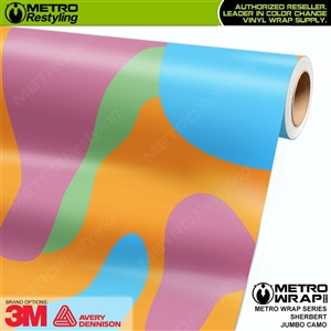 Jumbo Sherbert Camouflage Vinyl Vehicle Wrap Film