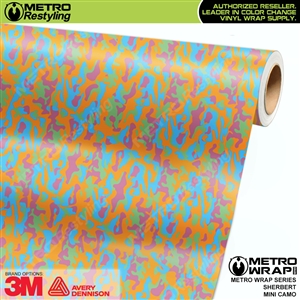Mini Sherbert Camouflage wrap car vinyl film