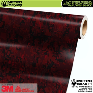 digital vampire red camouflage vinyl wrap