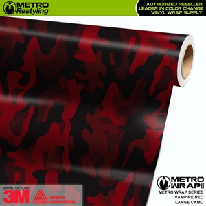 large vampire red camouflage vinyl wrap