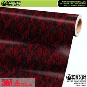 mini vampire red camouflage vinyl wrap