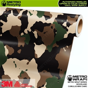Mini Cumulus Woodland Camouflage Vinyl Car Wrap Film