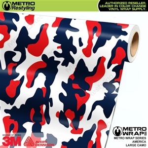 Large America Camouflage Vinyl Car Wrap Film