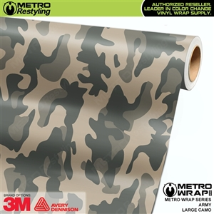 Large Army Camouflage Vinyl Car Wrap Film
