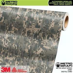 Digital Army Camouflage Vinyl Car Wrap Film