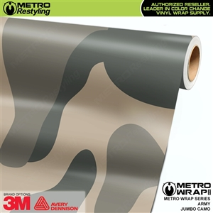 Jumbo Army Camouflage Vinyl Car Wrap Film