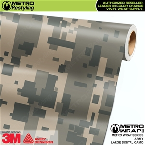 Large Digital Army Camouflage Vinyl Vehicle Wrap Film