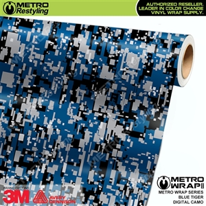 Digital Blue Tiger Camouflage Vehicle Vinyl Wrap Film