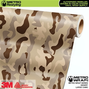 Large Desert Camouflage Vinyl Car Wrap Film