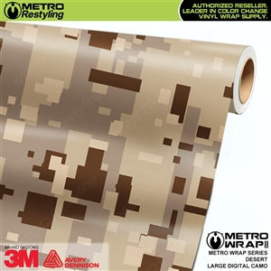 Large Digital Desert Camouflage Vinyl Car Wrap Film