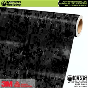 Digital Elite Black Camouflage Vinyl Car Wrap Film