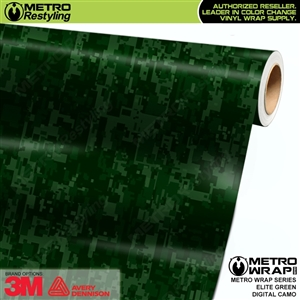 Digital Elite Green Camouflage vehicle wrap vinyl film