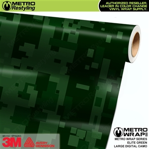Large Digital Elite Green Camouflage Vinyl Car Wrap Film
