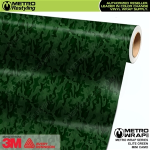 Mini Elite Edition Green Camouflage Vinyl Car Wrap Film