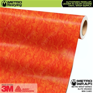 Mini Elite Edition Orange Camo vehicle wrap vinyl film