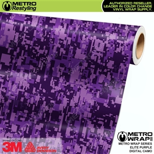 Digital Elite Purple Camouflage Vinyl Car Wrap Film