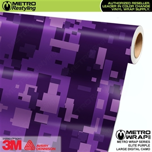 Large Digital Elite Purple Camouflage Vinyl Car Wrap Film