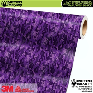 Mini Elite Edition Purple Camouflage vehicle vinyl wrapping film