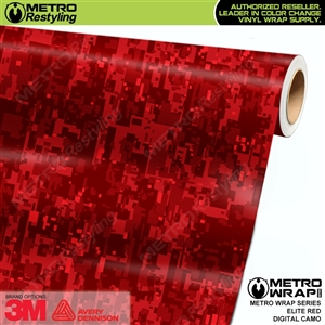 digital elite red camouflage vinyl wrap