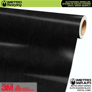 Digital Elite Shadow Black Camouflage Vinyl Car Wrap Film