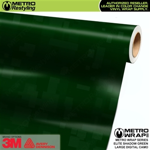 Large Digital Elite Shadow Green Camouflage Vinyl Vehicle Wrap Film