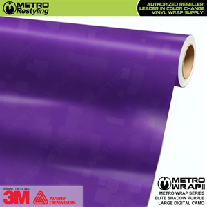 Large Digital Elite Shadow Purple Camouflage Vinyl Auto Wrap Film