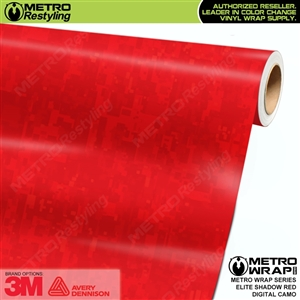 Digital Elite Shadow Red Camouflage Vinyl Vehicle Wrap Film