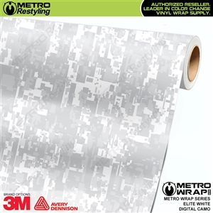 Digital Elite White Camouflage Vinyl Wrap Film