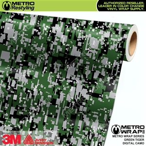 Digital Green Tiger Camouflage Vinyl Car Wrap Film
