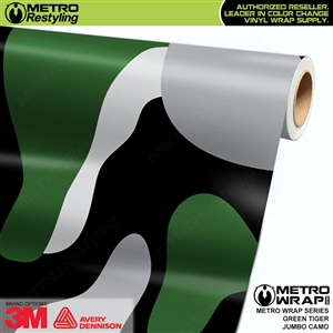 Jumbo Green Tiger Camouflage Vinyl Car Wrap Film