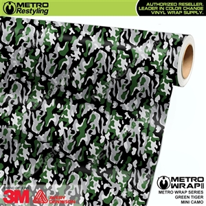 Mini Green Tiger Camouflage vinyl wrap car film