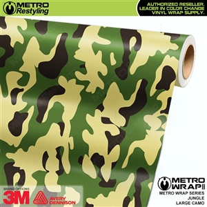 Large Jungle Camouflage Vinyl Car Wrap Film